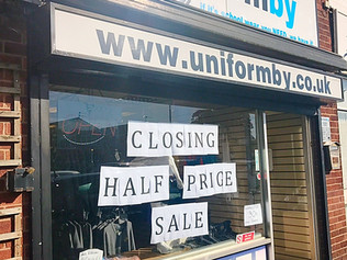 Uniformby is sadly closing down after ten years in our Bubble