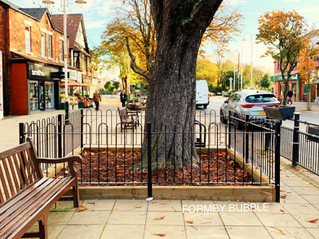 The new Tree Pit and railings will ensure long term care of our Village Trees
