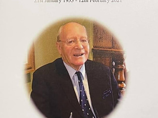 A final farewell to Jim Charnock yesterday - 21/01/33 to 12/02/21