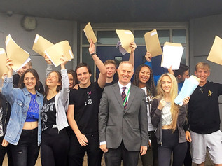 Range High students celebrate GCSE results today