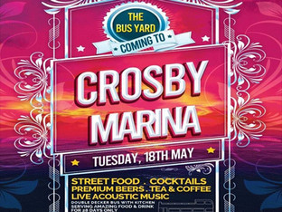 The wait is over for The Bus Yard, fully licensed bar, food and roof top terrace at Crosby Marina