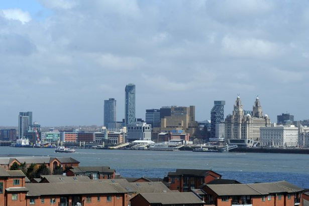 The view of the River Mersey and Liverpool Waterfront from Birkenhead Priory.jpg