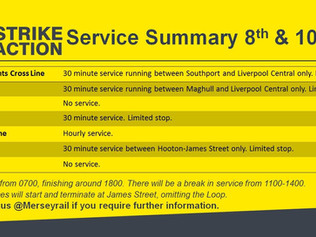 Merseyrail Strike Action this Saturday and Monday