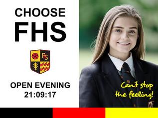 Open evening for Formby High School this Thursday 21st September