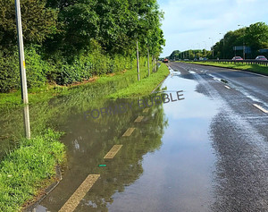 No Water in Formby due to a burst on the Formby bypass