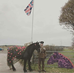 Bowlers Riding School in Formby set up a tribute to the 2 and 4 legged heroes of WW1