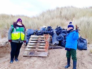 Almost 30 bags of rubbish picked up on the Hightown Beach Clean