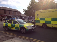 Formby Village closed off after serious RTC