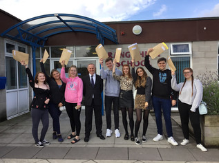 Range High School students celebrate fantastic A-Level results