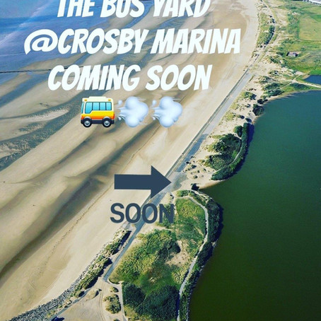 The Bus Yard is coming to Crosby Marina with Fully Licensed Bar, High End food and roof-top terrace