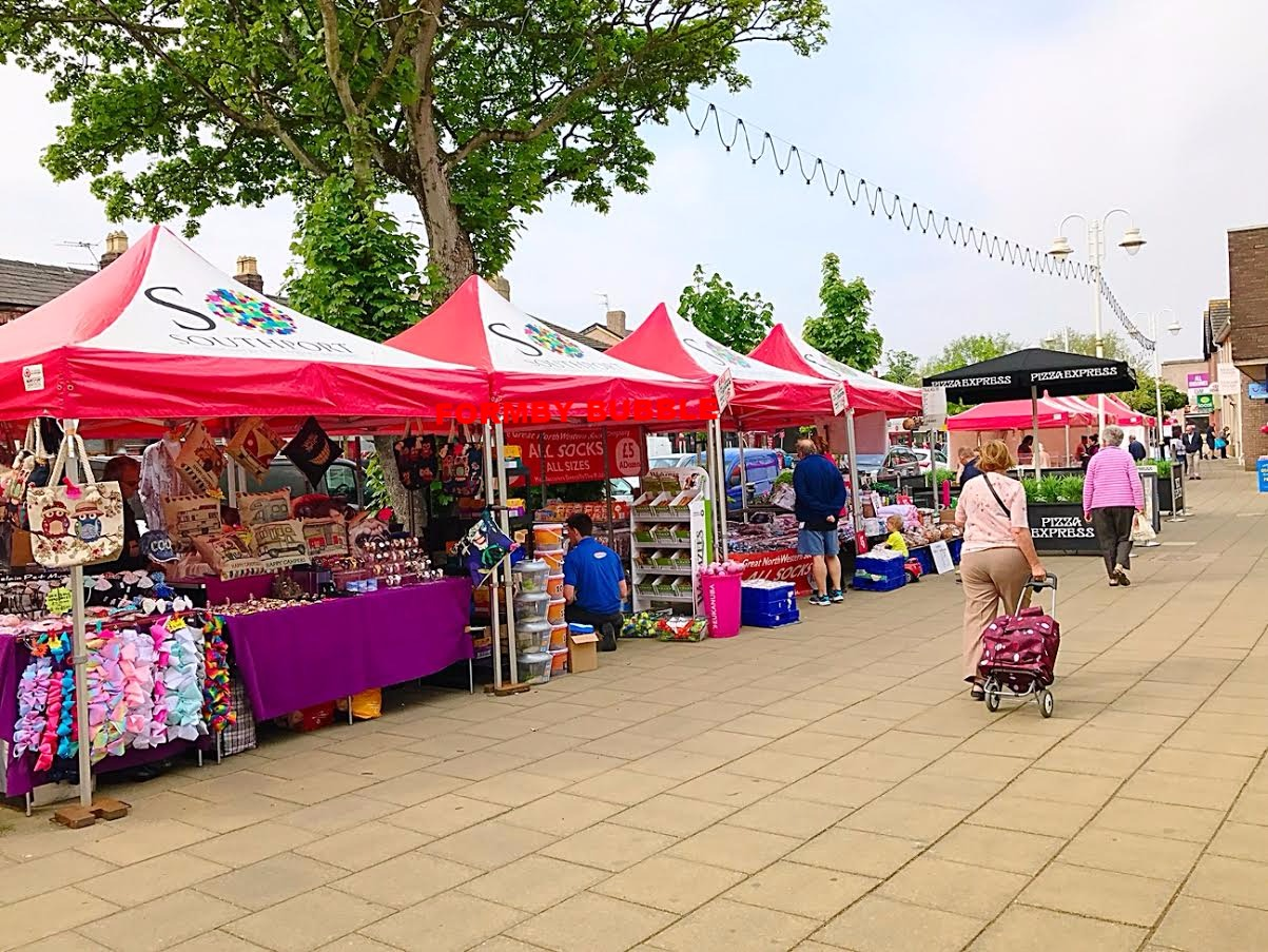 Formby Weekly Market On Today On Chapel Lane Formby Bubble
