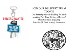 Domino's delivery drivers wanted in Formby