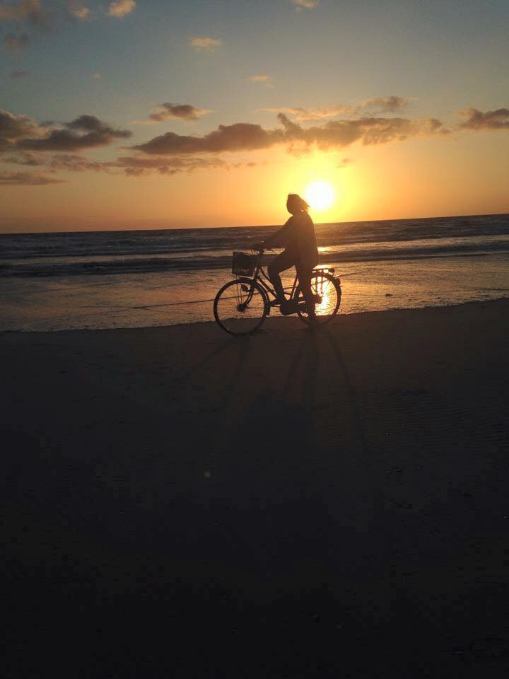 Andrea Dell - Bicycle ride on Formby Beach.jpg