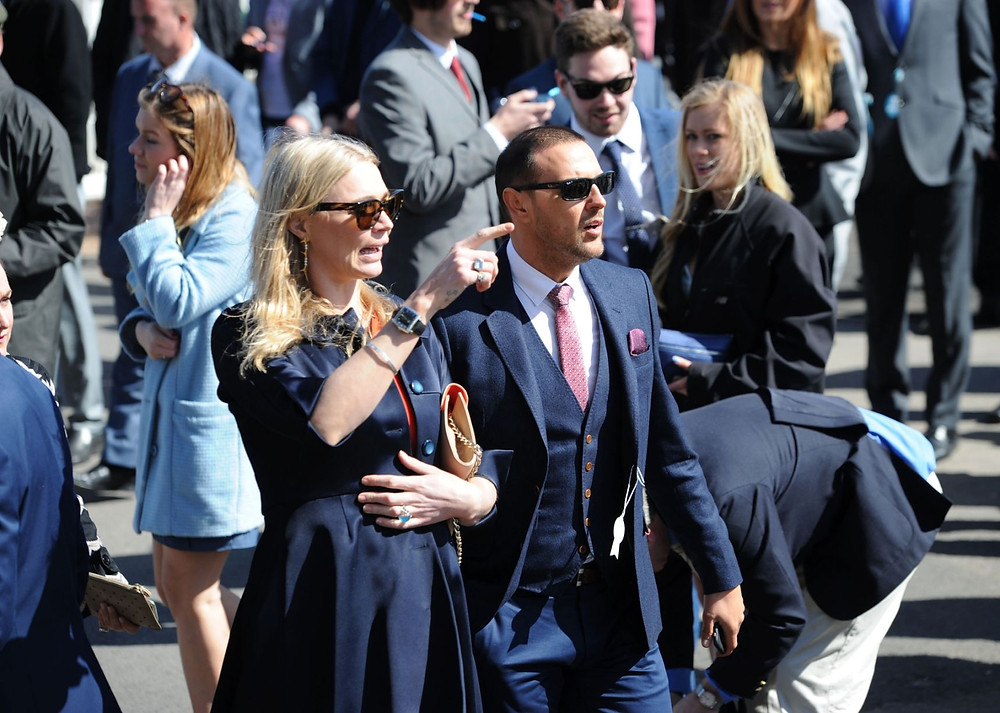 The Crabbie's Grand National 2015 - Jodie Kidd and Paddy McGuinness at Aintree.j