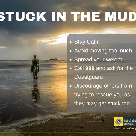Merseyside Fire & Rescue Service offer advice after incidents of people stuck in mud