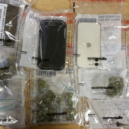 Fifteen bags of Cannabis seized after two men were stopped in their car in Maghull