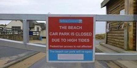 Due to high tides, Southport Beach & Ainsdale Beach car parks will be closed this weekend