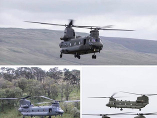 Look out for RAF Chinook helicopters flying over Formby over the next two weeks