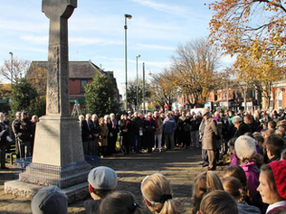 Formby fell silent to remember those who lost their lives