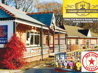 Formby's first Independent Beer Festival starts tomorrow Friday 31st March
