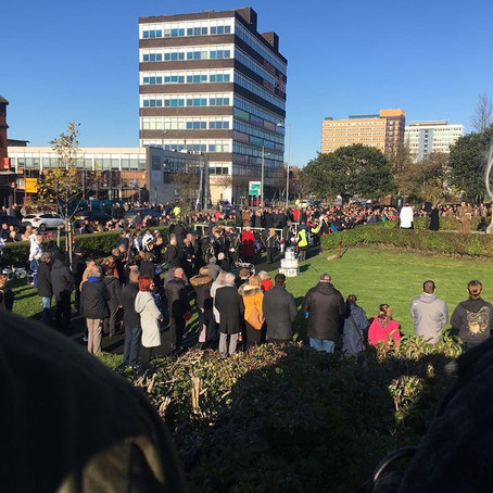 Remembrance Services took place today in Bootle