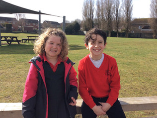 Two children from St Jeromes School in Formby raise over £300 for charity