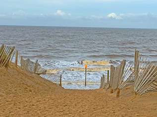 Very High Tide today at Formby beach