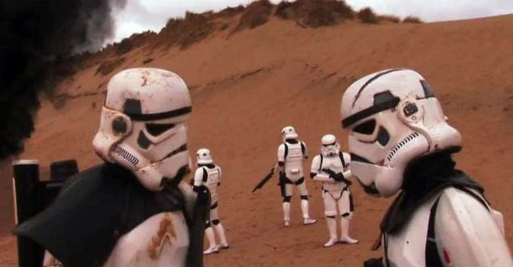 Amateur Star Wars film, filmed on Formby Beach.jpg