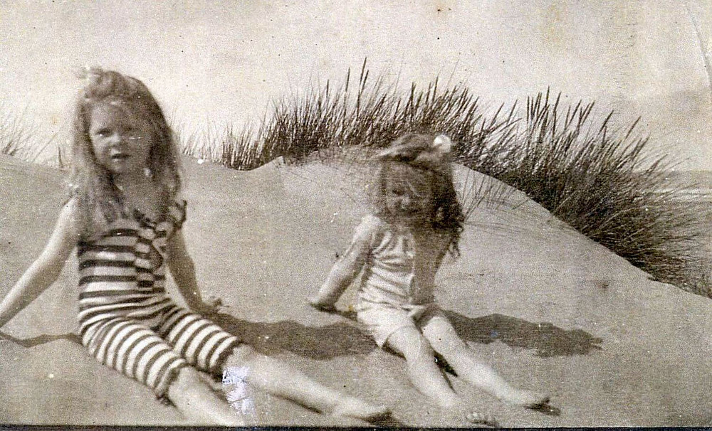 Janet (Left) and Mariam Anderson at Formby Beach - Undated.jpg