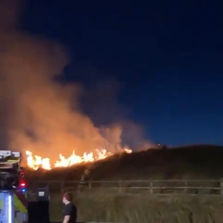 Appeal for information after several large fires were deliberately started in Crosby sand dunes