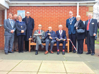 Formby Rotary present new bench to Formby Library