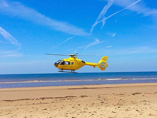 Air Ambulance called out to Formby beach today when a woman fell from her horse