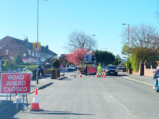 Liverpool Road closed in both directions with access via traffic signals through the night