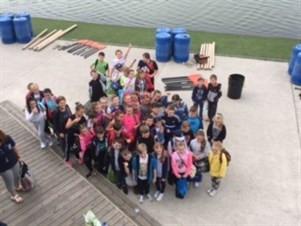 Scrambler bike education project - Sefton schoolchildren activity day at Crosby Lakeside Centre