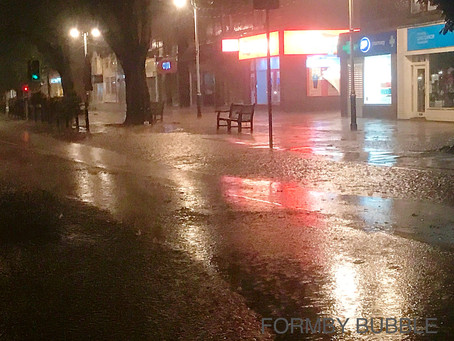 Flooding in Formby with more torrential rain expected