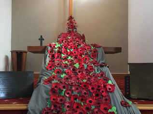 Formby Methodist Church have had an amazing display of weeping poppies