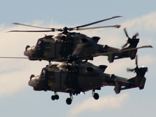 Helicopter training exercises over Formby