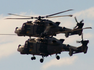 Helicopter training exercises over Formby and Hightown