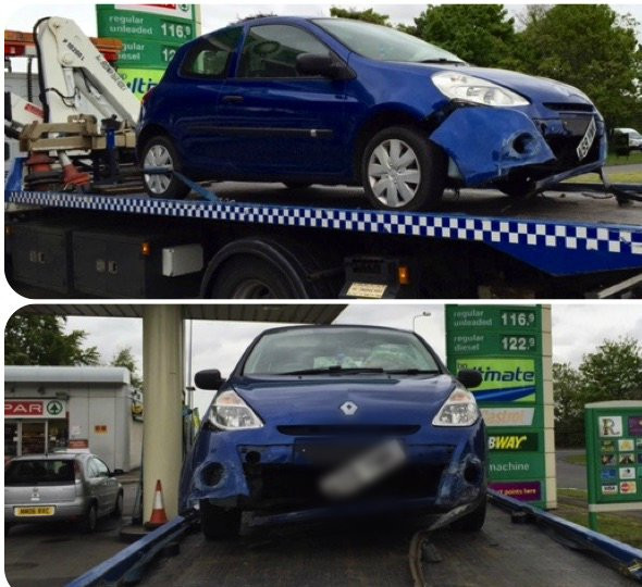 Clio spun out of control on bypass - 01.06.15.jpg