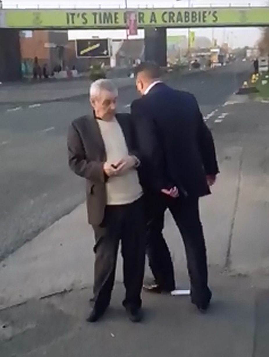 Aintree Video of drunken man knocking into an old man.jpg