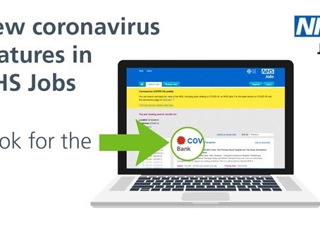 You can now search and apply for COVID-19 related jobs in the NHS on NHS Jobs