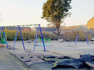 Thanks to local resident George Lyons, work has finally begun on Smithy Green Park