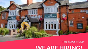 Staff Wanted for the Nags Head Pub - Bar Staff - Chefs - Waiting On Staff