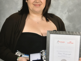 Formby Veterinary Nurse wins Outstanding Contribution to Pet Health Counselling Gold Award