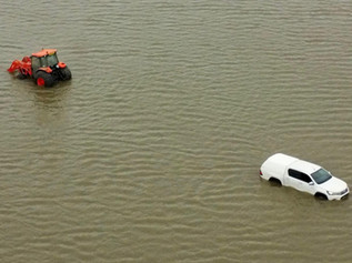 A tractor and 4x4 lost to the tide due to trespassers when the red flags were flying at Altcar