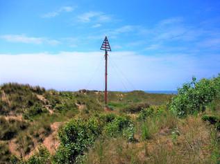 The historic navigational marker at Formby Point is being restored