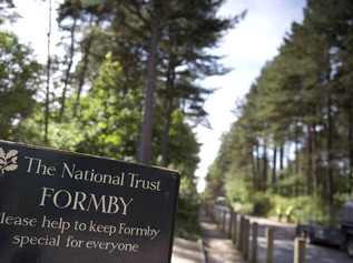 National Trust Formby is closed now until after Storm Doris which forcasts 80mph winds