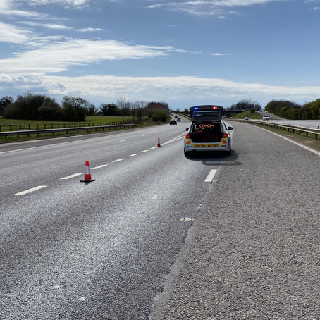 Police appeal for witnesses after major RTC on approach to Switch Island from M58