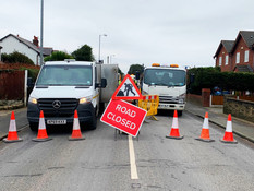 Altcar Road is closed in both directions due to roadworks