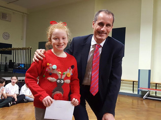 This year's winner of Bill Esterson MP's school Christmas card competition is from Aintree D